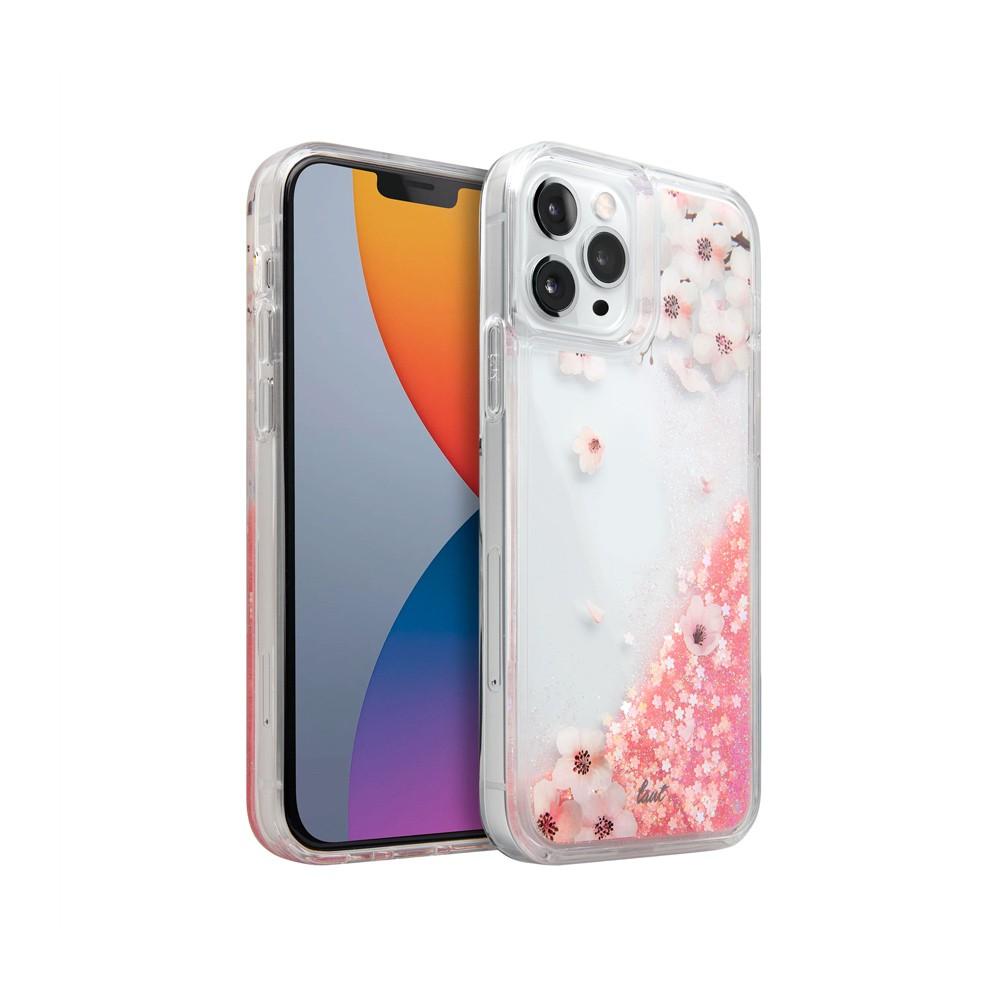 LAUT Casing for iPhone 12/12 Pro (6.1) Liquid Glitter Sakura