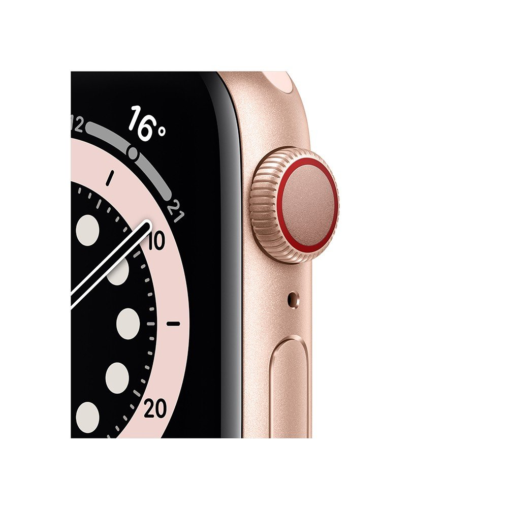 Apple Watch Series 6 GPS + Cellular 40mm Gold Aluminium Case with Pink Sand Sport Band